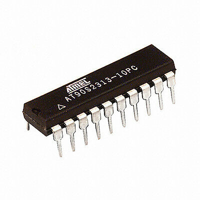 Qty 3 Atmel Avr At90s2313-10pc Microcontrollers 20-pin Usa Seller