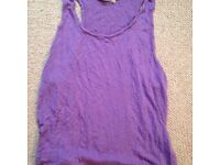 Purple beach top - size 12/14