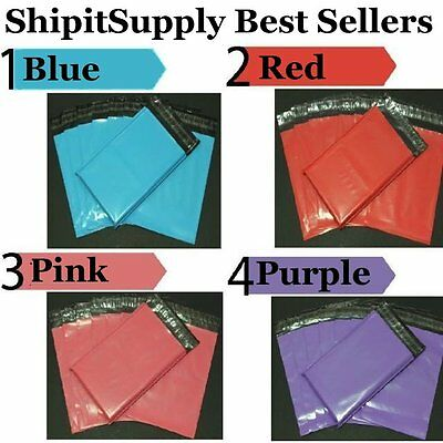 1-1000 6x9 Blue Pink Purple Or Red Poly Mailers Best Sellers Fast Shipping