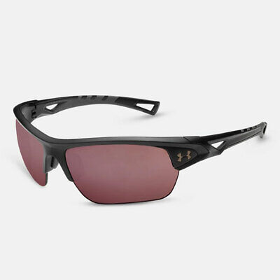UNDER ARMOUR OCTANE SUNGLASSES SATIN BLACK FRAME / UA TUNED GOLF LENS NEW! (Under Armour Golf Sunglasses)