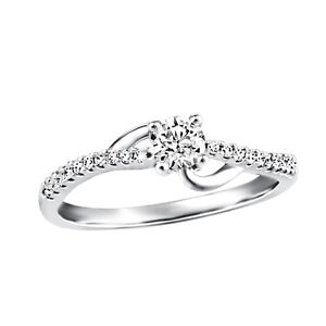 Different By Design Diamond Love Knot Ring in 10kt White Gold