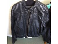 Mens black leather jacket .size XX large.
