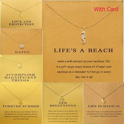 Necklace With Card Pendant Infinite Love Luck Necklace Valentine's Day Gift Idea