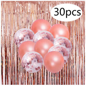 BRAND NEW Matching Party Backdrop Decor +30 Balloons (Rose Gold)