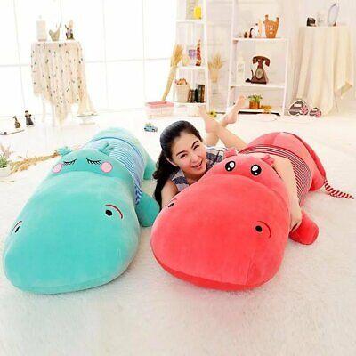 Creative Cartoon Hippo Pillow Giant Hippo Plush Toy Sofa Bed Cushion Pillow Gift ()