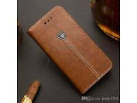 Rich Luxury Magnetic Leather Wallet Flip Case Brown Cover For Samsung S4 Mini