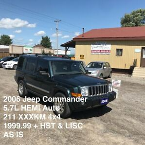 2006 Jeep Commander 5.7L HEMI LOADED 4X4 $1999.99 AS IS