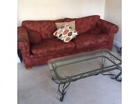 FREE 3 seater sofa, glass top coffee table and TV with stand - You must collect