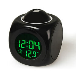 Multi-function Digital LCD Voice Talking Alarm Clock LED Projection Temperature