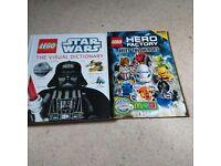 2 LEGO BOOKS.