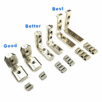 Interior L Brackets 4040 Aluminum Profile Extrusion Accessory 5 Pieces