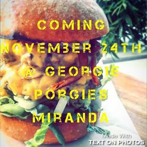 Pop up burger night Miranda Sutherland Area Preview