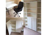 Office Furniture Set - White