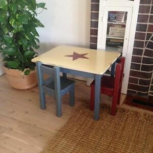 Children's wooden table and chairs Manly Manly Area Preview