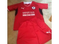 Raith Rovers Football Strip. Age 4