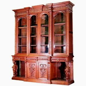 Antique-American-Mahogany-Breakfront-Bookcase-by-R-J-Horner-c-1880-6197