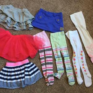 LOT of Girl's 2T skirts and tights