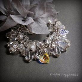 "Handmade shining bracelet ""Amazing snow"""