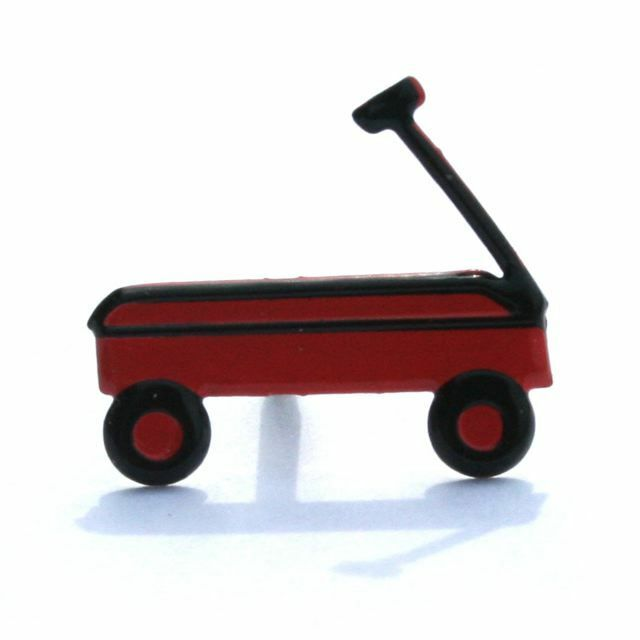 RED  WAGON  BRADS ** 8 PCS ** SEE MY STORE **