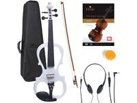 BRAND NEW Cecilio 4/4 Electric Violin - White