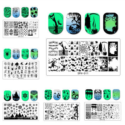Konad Stamping Halloween (PIASTRA unghie HALLOWEEN NAIL ART stamping PLATE manicure STENCIL template)