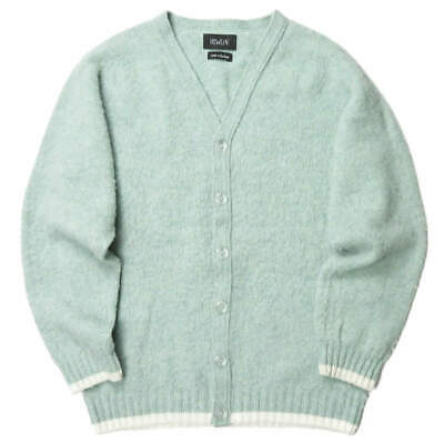 HOWLiN' Scottish shaggy knit cardigan L green Wool MORRISON tops