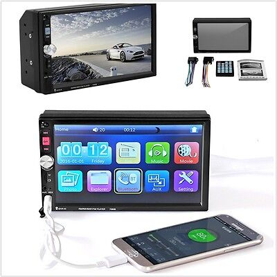 Universal Car Vehicle MP3 MP5 player 7inch Touch Screen Bluetooth Hands Free 12V