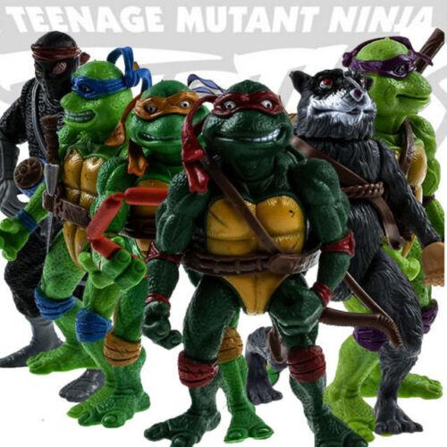 6Pcs Teenage Mutant Ninja Turtles Action Figures Classic Col