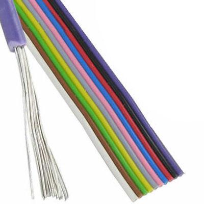 3 m Flachbandkabel 10x0,25mm² Farbfolge DIN Aufbau 16x0,2 ReinCU verzinnt