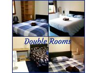 WEEKLY-MONTHLY LET- DOUBLE ROOMS IN 4 BEDROOM HOUSE- FREE OPTIC FIBER WI-FI - NO MINIMUM STAY