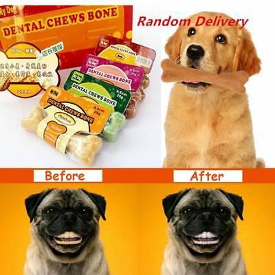 2X Dog Puppy Pet Teeth Dental Clean Molar Rod Treats Snacks Sticks Bone Chewing