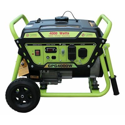 Green-Power America 4000 Watt 7 HP Portable Gas Powered Generator/Recoil Start