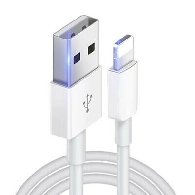 USB Lightning Genuine Apple iPhone 11 8 7 6 5 XS Plus + Charger Cable iPad 1m