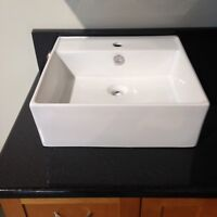 Never installed sing hole vessel sink