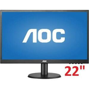 "REFURB AOC FULL HD LED MONITOR 22"" E2280SWDN 200450668 PC COMPUTER REFURBISHED"