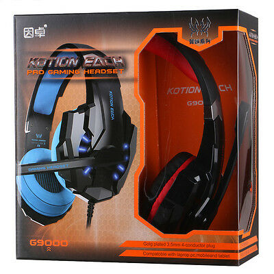 G9000 Pro Gaming LED Headphone Headset Surround 7.1 Sound for PS4 Laptop Tablet