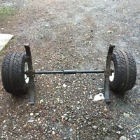 axle and tires for small trailer