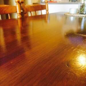 Dining table - solid wood + 5 chairs (plus free sofa & microwave) Leichhardt Leichhardt Area Preview