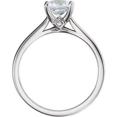 1.52 carat center Princess cut Diamond GIA F color VS1 14k Gold Engagement Ring 1