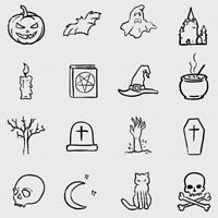 Halloween style tattoos