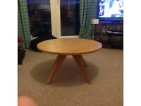 Marks & Spencer Oak round coffee table £25