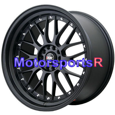 18 x 10 XXR 521 Flat Black Deep Dish Step Lip Rims Wheels Stance 5x114.3 - 18x10 Deep Dish