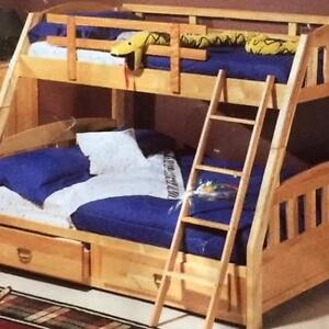 Wanted Birch Twin over Double Bunk Bed Frame