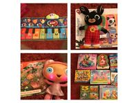 Various toys- Bing, Piano, Waybuloo, Jigsaws