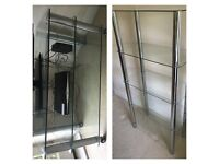 Tv glass table and glass shelving unit £90 both or seperat offers welcome