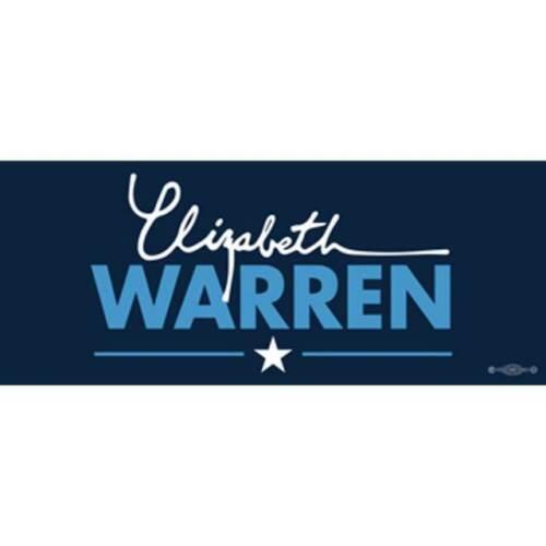 Elizabeth Warren 2020 For President Navy Blue Bumper Sticker Decal