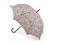 Cath Kidston Kensington Walking Umbrella British Birds - Grey
