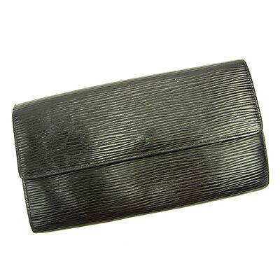 87e4e090f58 Louis Vuitton Wallet Purse Long Wallet Epi Black Woman Authentic Used Y3626