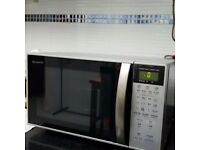SHARP Microwave Oven With Double Grill and Convention R-898M(S) and of crochetted scarf