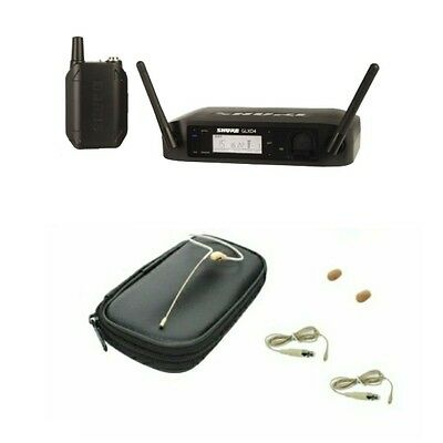Shure GLXD14 Digital Wireless Bodypack System & OSP HS09 Tan Earset Headset Mic  Digital Headset Wireless Mic System